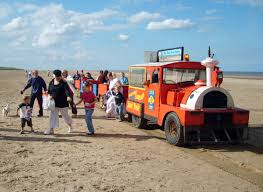 Beach train on mablethorpe beach